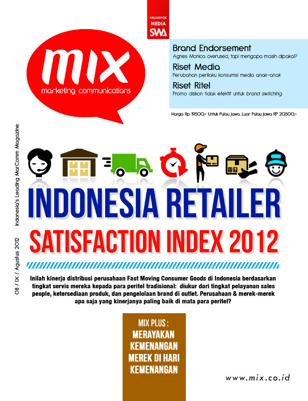 INDONESIA RETAILER SATISFACTION INDEX 2012 (MIX EDISI 08/2012)