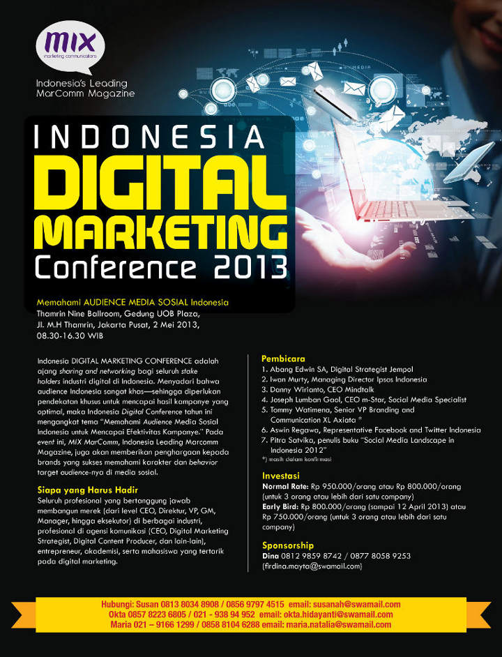 Indonesia Digital Marketing Conference 2013