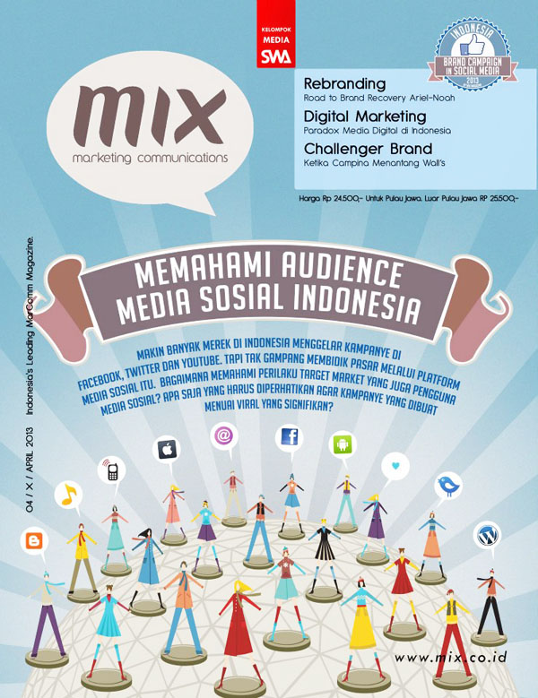 MEMAHAMI AUDIENCE MEDIA SOSIAL INDONESIA (MIX Marketing Communications Edisi APRIL 2013)