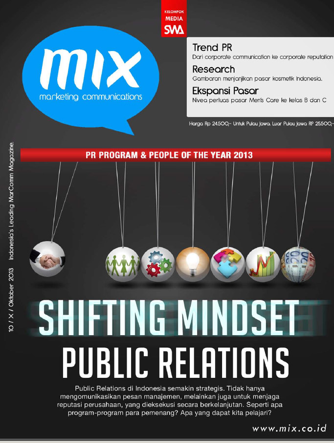 SHIFTING MINDSET PUBLIC RELATIONS (MIX Edisi Oktober 2013)