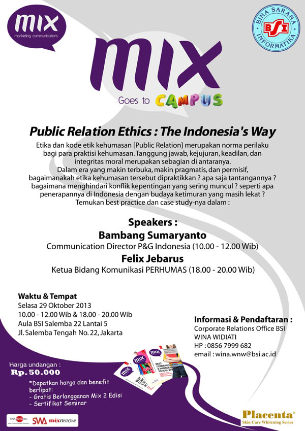 Public Relation Ethics : The Indonesia's Way