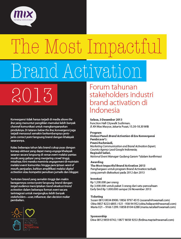 The Most Impactful Brand Activation 2013
