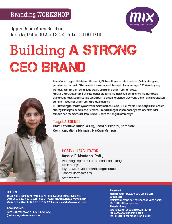 Branding Workshop: Building A Strong CEO Brand