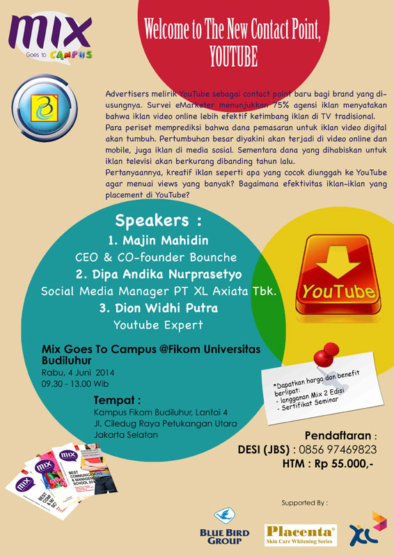 MIX Goes TO Campus Universitas Budi Luhur: Welcome to The New Contact Point, YOUTUBE