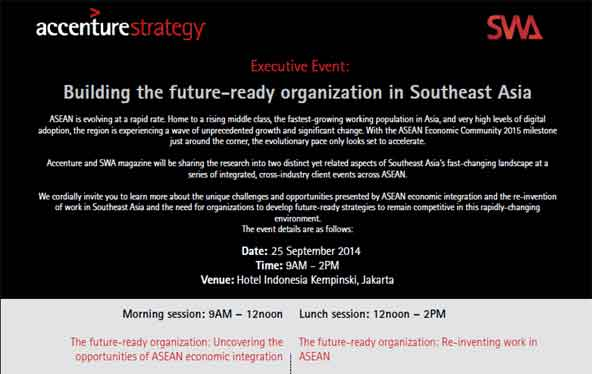 Executive Event: Building the future-ready organization in Southeast Asia (Updated)