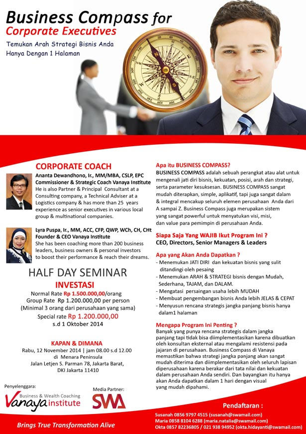 Half Day Seminar: Business Compass for Executive Corporate
