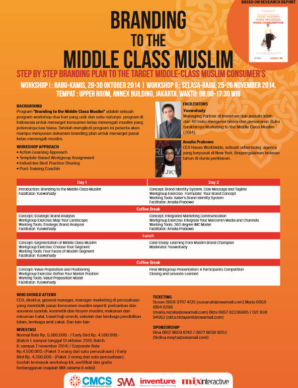 Branding to the Middle-Class Muslim: Step by step branding plan to the target Middle-Class Muslim Consumer's