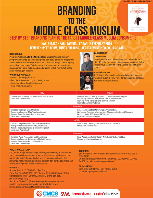 Branding to the Middle Class Muslim - Step by step branding plan to the target Middle-Class Muslim Consumer's
