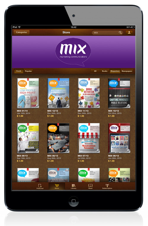 MIX Digital Magazine Powered by Wayang Force on iPad