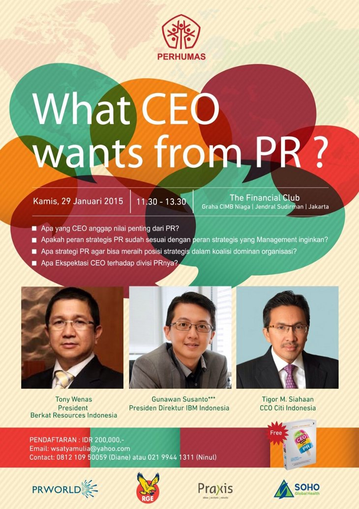 What CEO Wants from PR