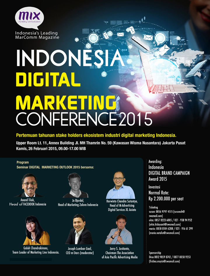 Indonesia DIGITAL MARKETING Conference 2015 (Confirmed)