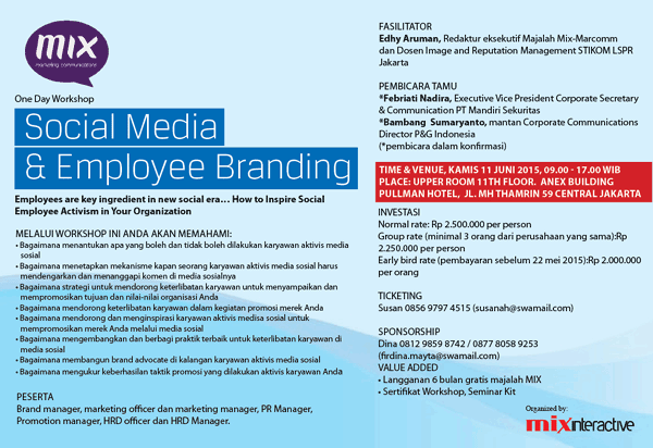 One Day Workshop: Social Media and Employee Branding