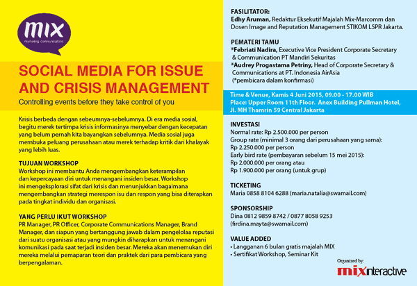 Social Media for Issue and Crisis Management: Controlling events before they take control of you