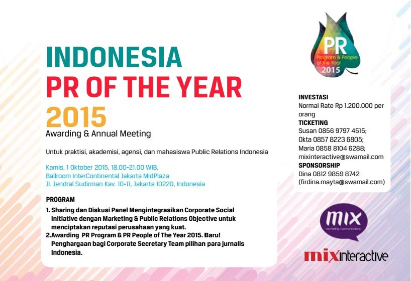 INDONESIA PR OF THE YEAR 2015: Awarding & Annual Meeting